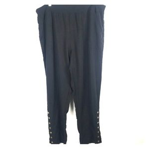 Soft Surroundings 2X Pull On Snap Ankle Pants